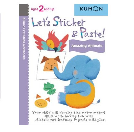 Libro Kumon Let's sticker and paste amazing animals