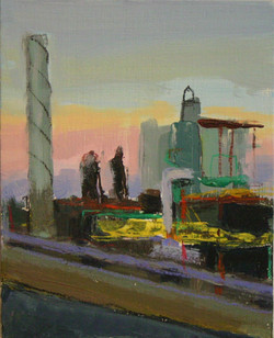 Factory Cathedral, 11'' by 14'', Oil on Linen