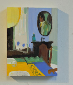 The Man in the Mirror, 11 14, Oil on Panel