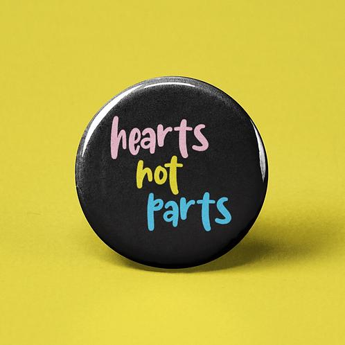 Hearts Not Parts Pin