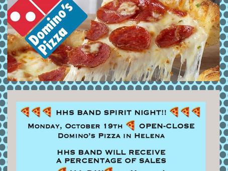 Monday Oct 19th Spirit Night @ Domino's Pizza
