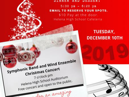 Christmas Dinner Concert Details