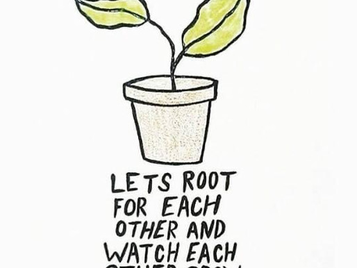 Rooting for others, helps us all grow! Day 81 of 101 everyday positivity challenge