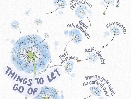 Get lighter by letting go what weighs you down! Day 72 of 101 everyday positivity challenge