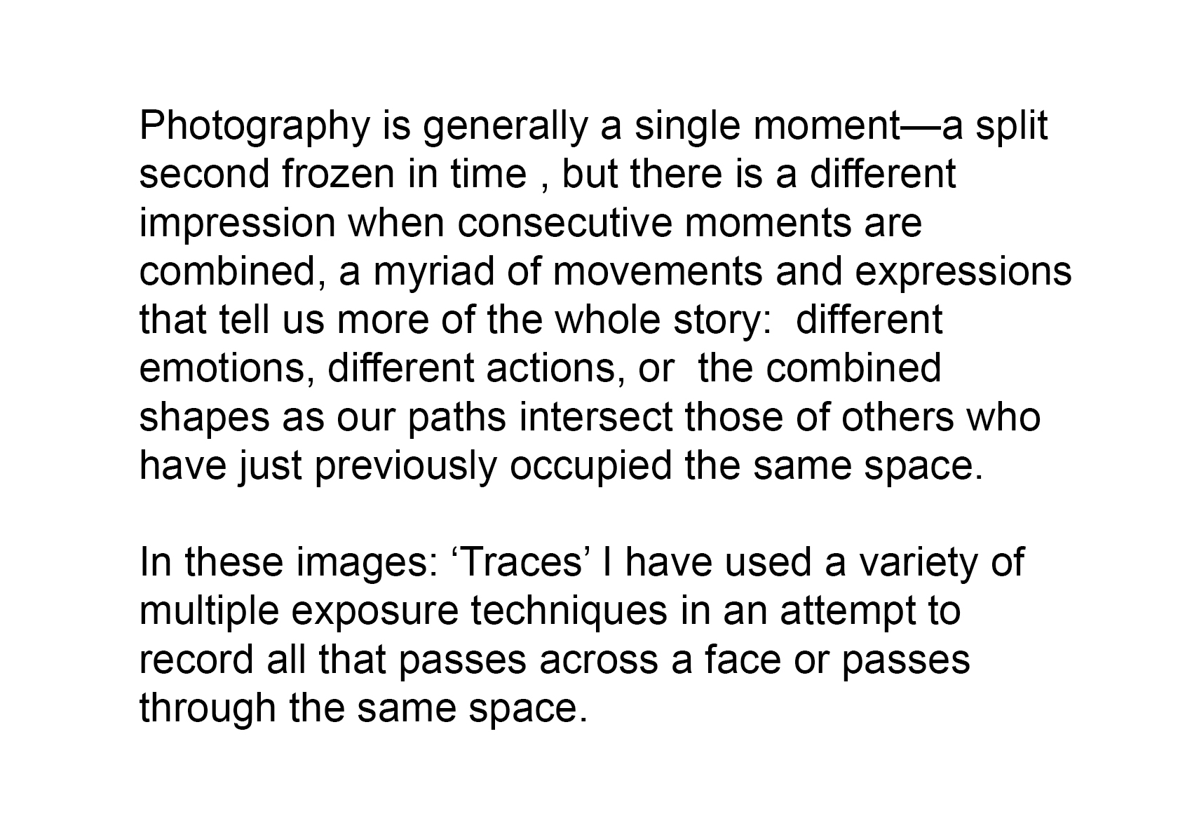 Traces explanation