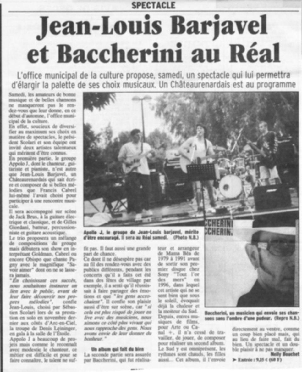 Presse. JL au Réal