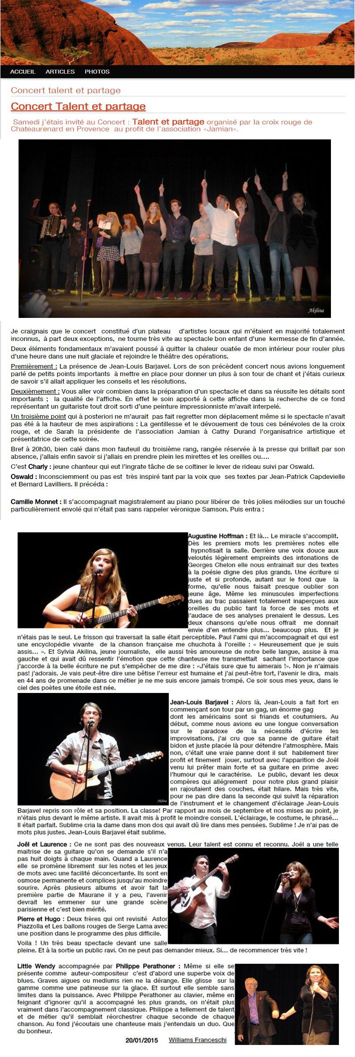 Presse, concert Talents & Partage