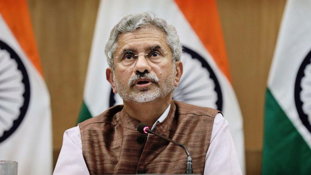 Subrahmanyam Jaishankar - Indian FM ( via AP)
