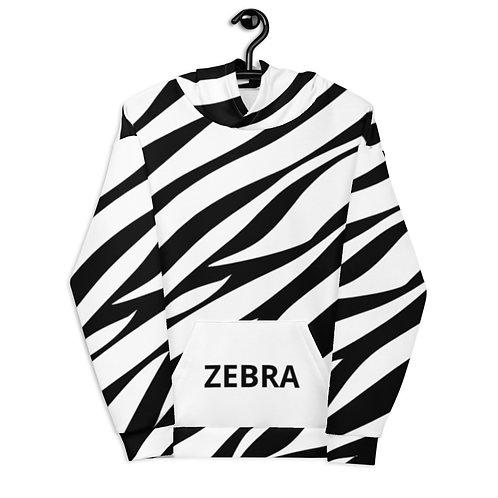 Zebra Animal Print Unisex Hoodie