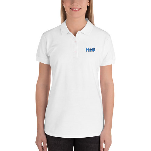 H20 NERD Embroidered Women's Polo Shirt