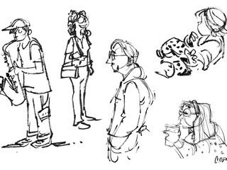 On-Location People Sketches