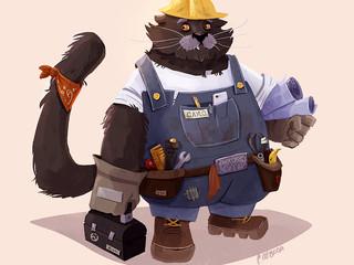Binturong Construction Worker