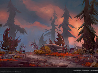 WoW Shadowlands Forest Concept