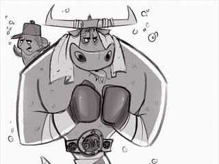 Boxing Bull...Maid
