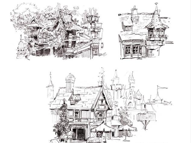 Disneyland Sketches