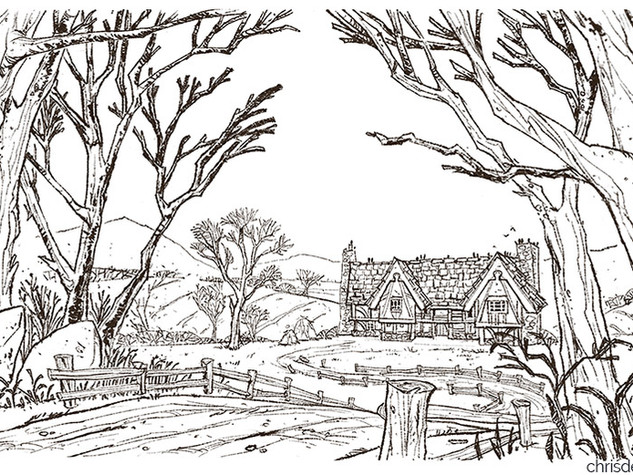 Tavern Exterior (Line art only)