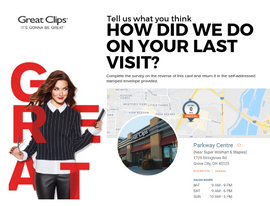 Great Clips Survey - front