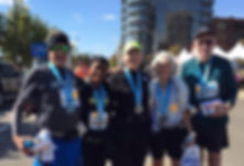 GVWC walkers after completing a half marathon