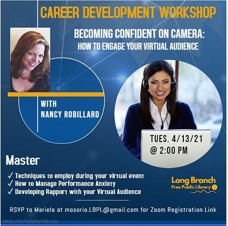 April Career Development Workshop flyer.