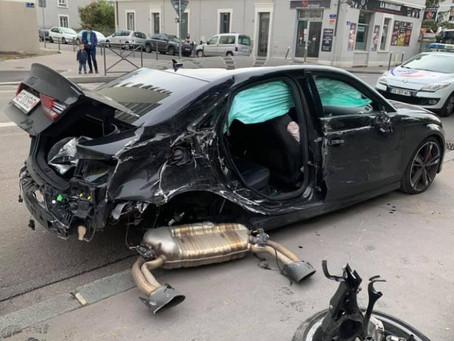 Photos : Audi RS3 CRASH !