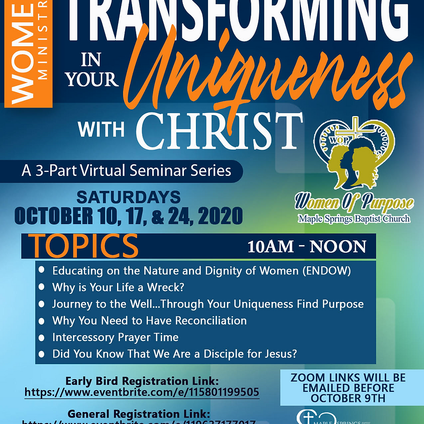 Transforming In Your Uniqueness with Christ