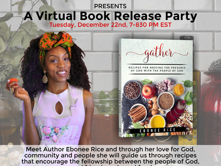 """You're invited to a Book Release Party for """"Gather"""" by Ebonee Rice"""