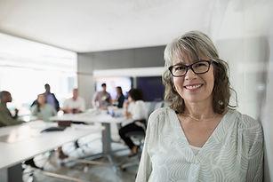 Senior affärskvinna