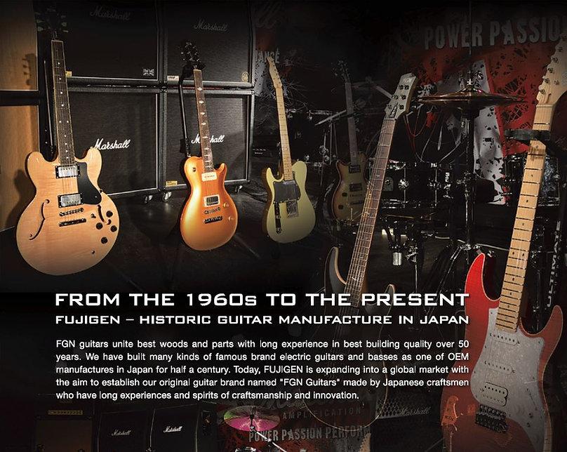 FGN Guitars in Israel / History of FGN Fujigen