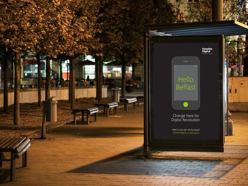 Deloitte Digital Belfast advertising campaign