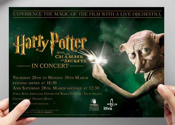 Cinceconcerts - Harry Potter In Concert design and implementation across digital platforms