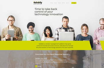Validify - Branding, website design and build