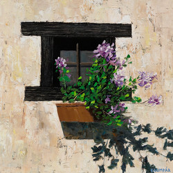 Window with a flower