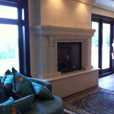 Transitional Stone Fireplace Surround