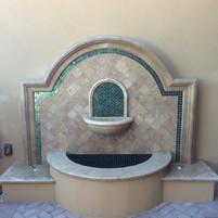 Travertine Wall Fountain