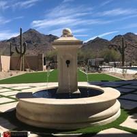 Rear Courtyard Fountain