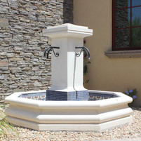 Limestone Fountain with Spouts