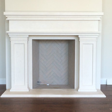 Traditional / Transitional Stone Fireplace Surround