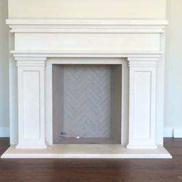 Traditional / Transitional Stone Fireplace Surround