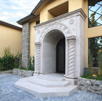 Classic European Stone Entryway