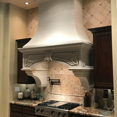Limestone Range Hood Surround