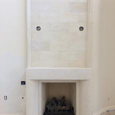 Modern Stone Fireplace Surround