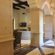 Square Tuscan Stone Columns