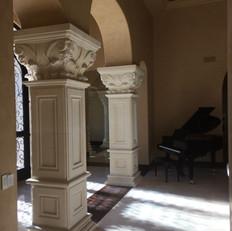 Square Limestone Columns