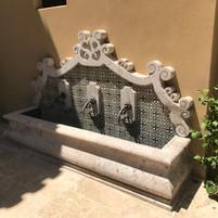 Wall Fountain in Cantera Stone