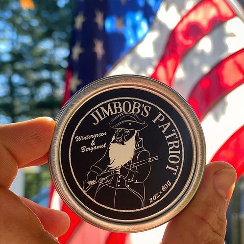 JimBob's Grizzly Patriot Beard Balm (Wintergreen/Bergamot)