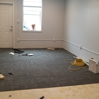 Carpet tile install