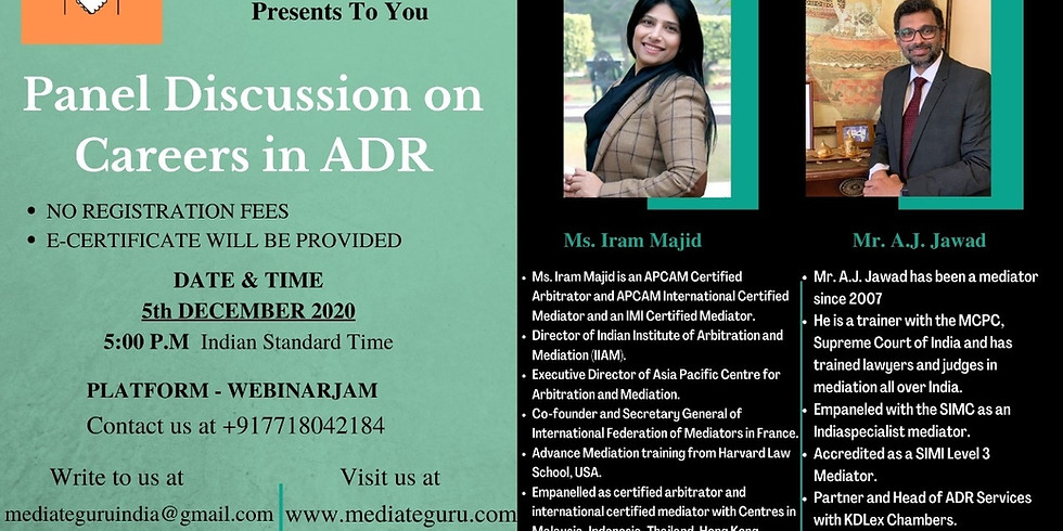 Panel Discussion on Careers in ADR