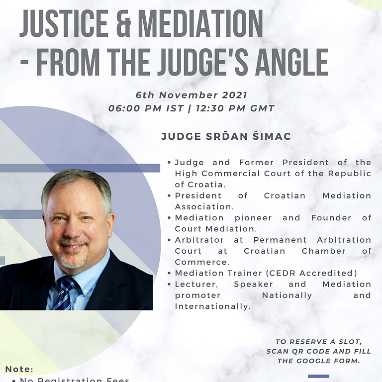 International Webinar on Justice & Mediation - from the Judge's Angle