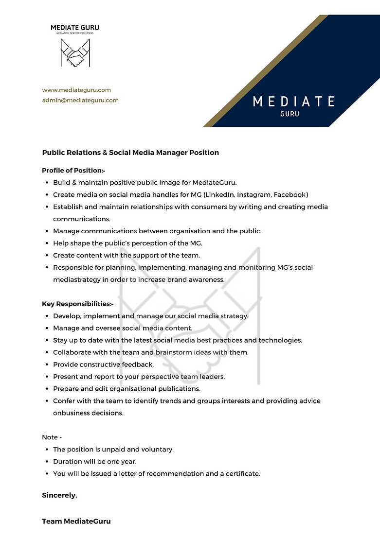 Public Relations & Social Media Manager