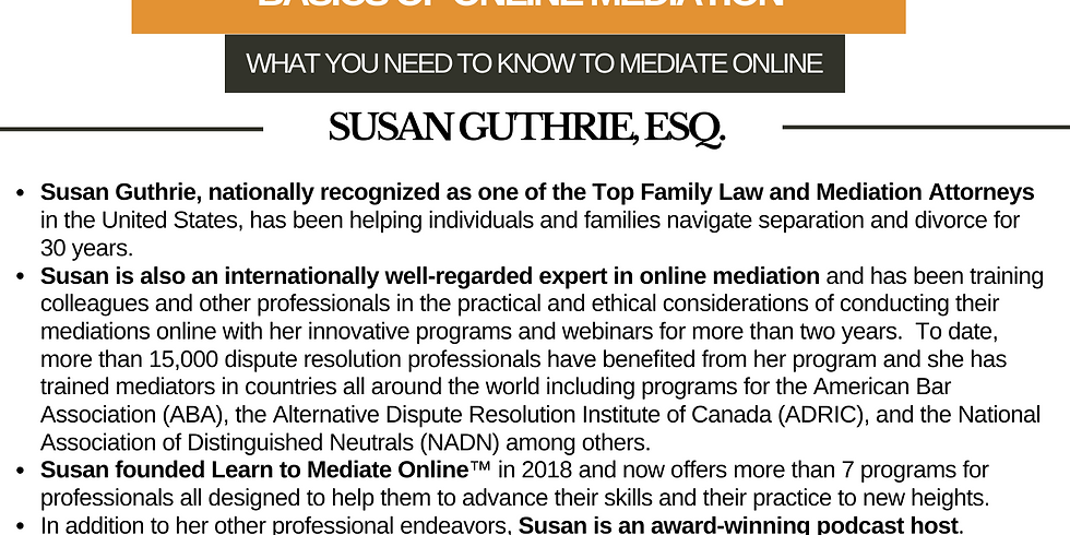 International Webinar on Basics of Online Mediation